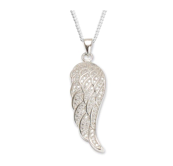 Angels Wing Pendant silver