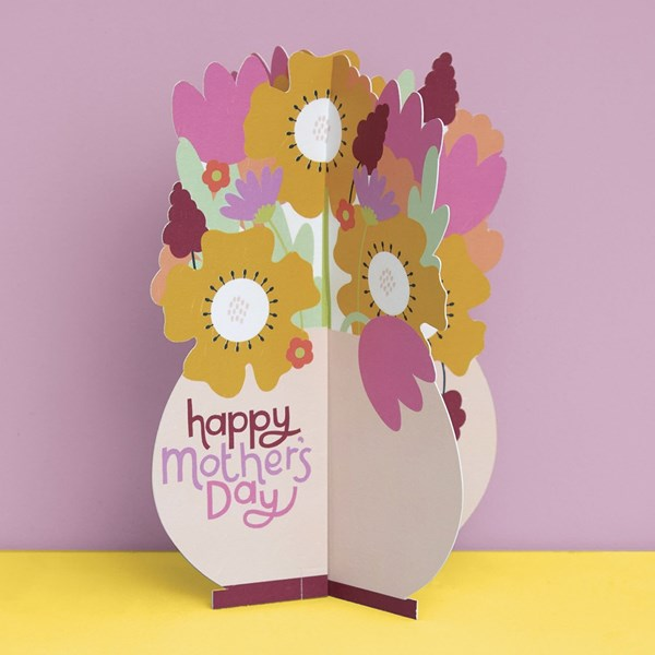 Happy Mothers Day 3D Bouquet fold out card