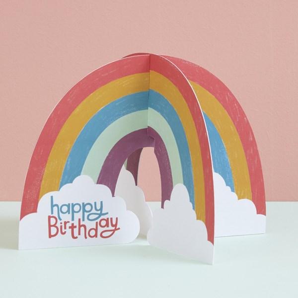 Happy Birthday 3D Rainbow