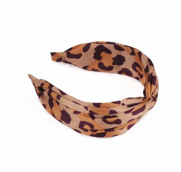 Satin headband Leopard print