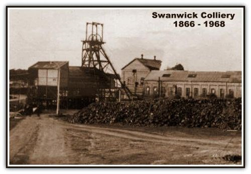Postcard showing an image of Swanwick Colliery
