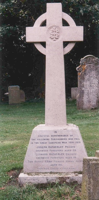 The War Memorial in Stanton on the Wolds churchyard