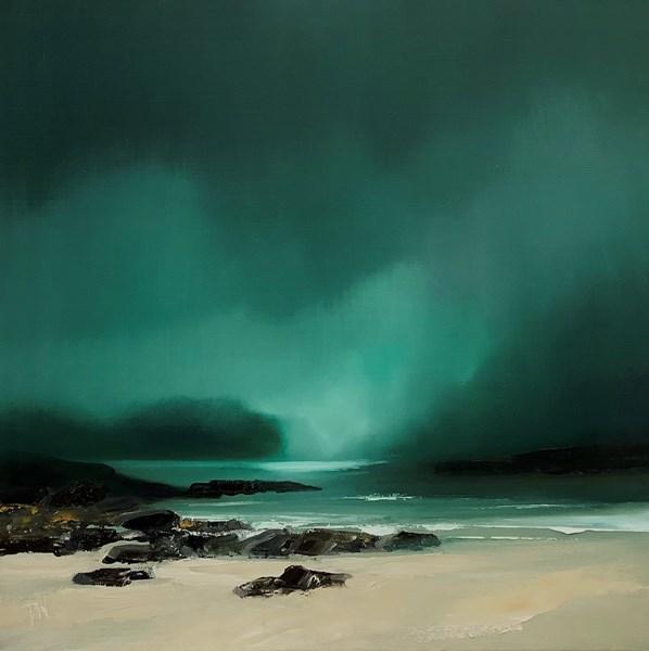 Assynt light, oil on canvas 40x40cm SOLD