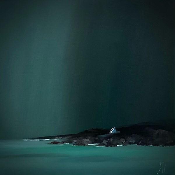 Summer storm oil on canvas 30x30cm