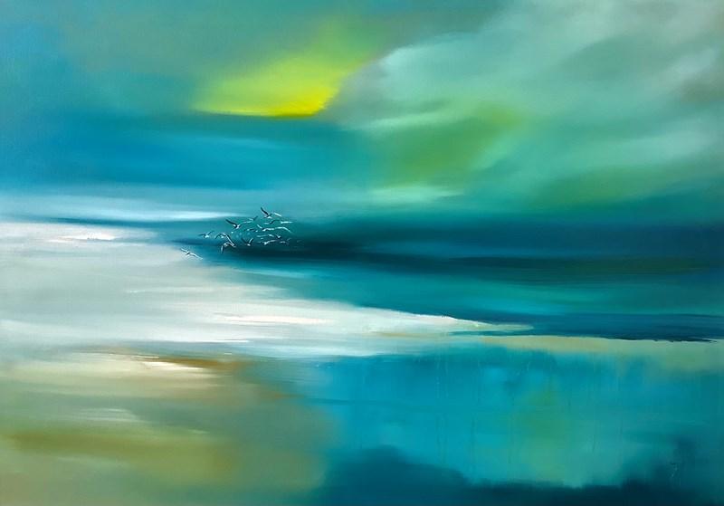 Escape (Harris) oil on canvas 100x70cm  SOLD