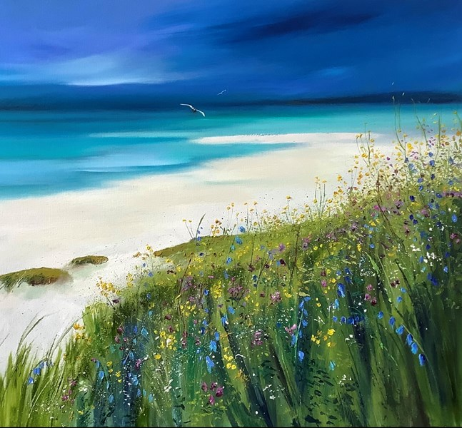 Seilebost in bloom, oil on canvas 100x70cms SOLD