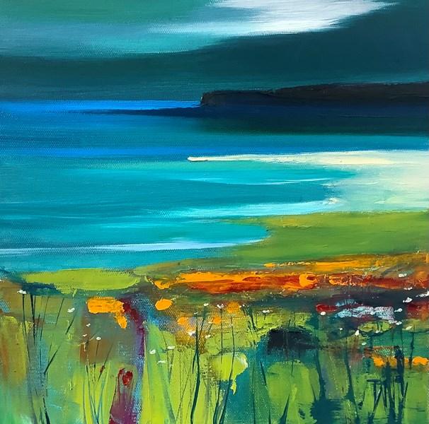 Receding tide #1 oil on canvas 30x30cm SOLD