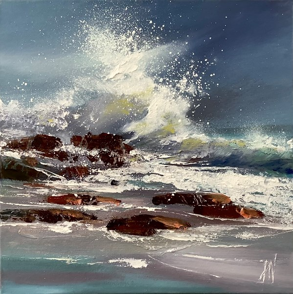 Atlantic roller, 30x30cm oil on canvas, available Bealach gallery