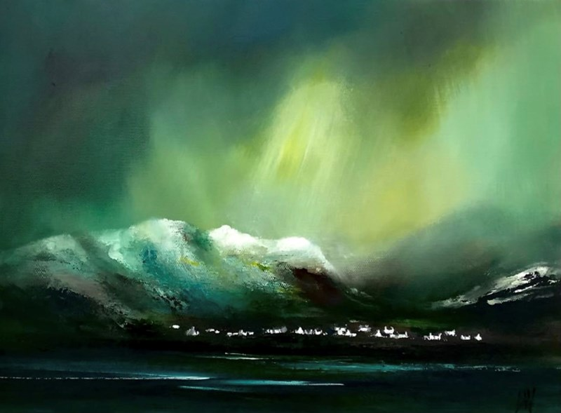 Torridon Winter, 40x30cm oil on canvas, available Bealach gallery