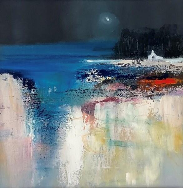 Island night,  30x30cm oil on canvas, available Bealach gallery