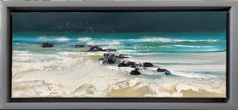 Northton, 30x30cm mixed media Available Bealach gallery