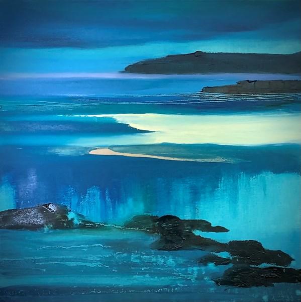 Receding tide #2 oil on canvas 30x30cm. SOLD