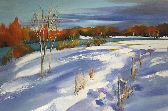 Winter's breath, River Ness