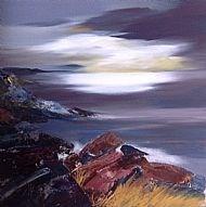 Winter, Loch Ness, Oil on canvas 40x40cm