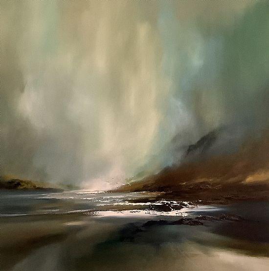 Falling light, rising mist