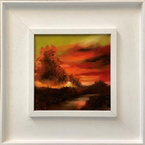 20x20cm +frame, available £180