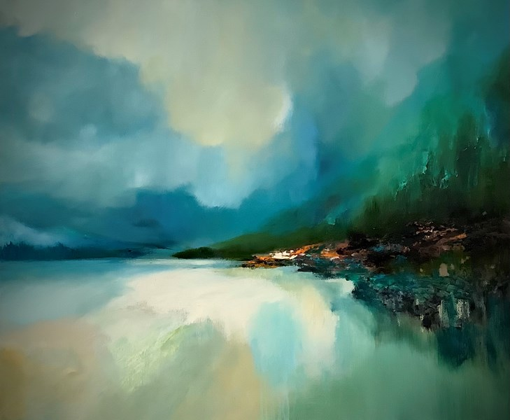Loch Mhor Blue 90x70cm oil on canvasSOLD