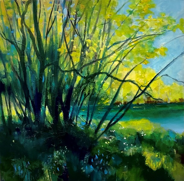 Spring, River Ness 30x30cm oil on canvas