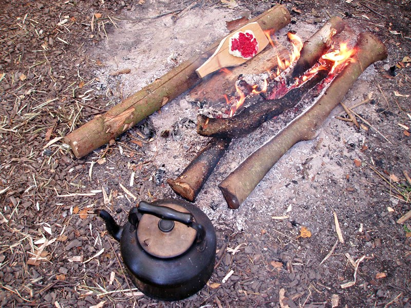 Fire making and cooking bushcraft skills