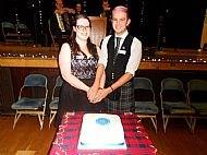 Cutting the anniversary cake