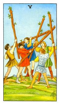Why the Five of Wands can leave us frustrated