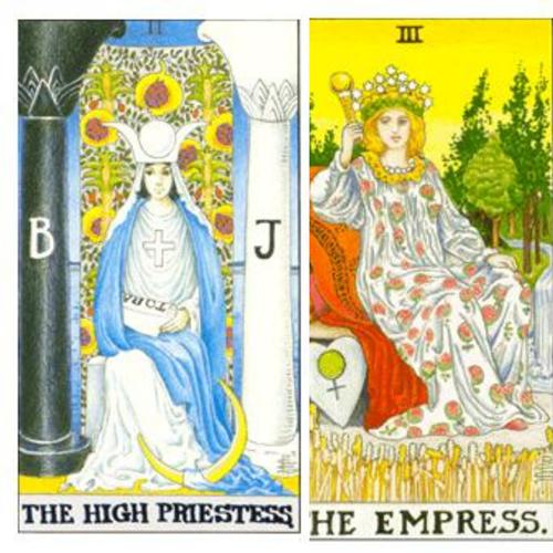 Landing on the Doorstep of The High Priestess & The Empress