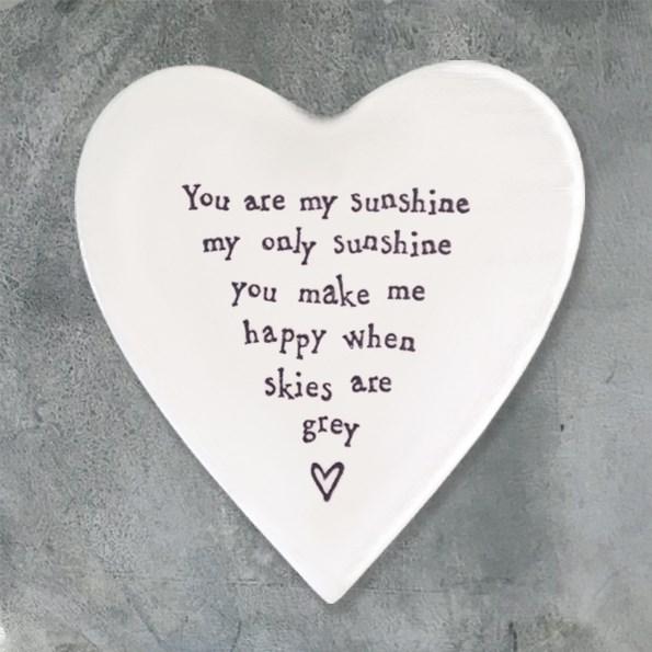 Ceramic Coaster You are my sunshine...