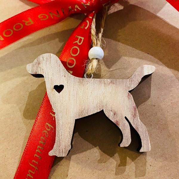 Mini Wooden Dog Decoration