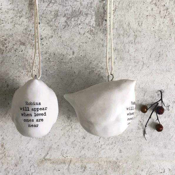 Ceramic Single Robin Decoration