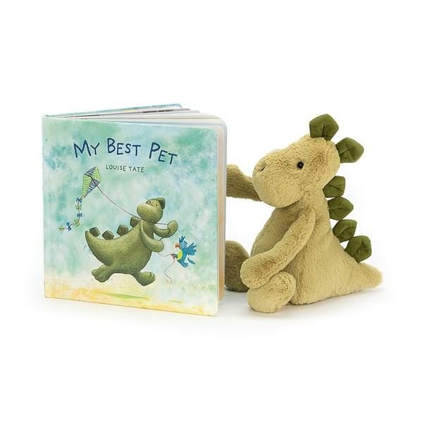 Jellycat My Best Pet Dinosaur Book & Medium soft Toy