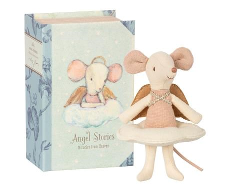 Maileg mouse fairy in book