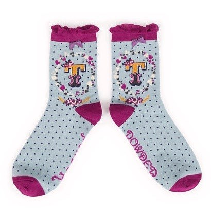 Ladies Bamboo Initial Socks T