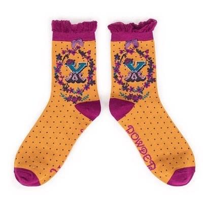 Ladies Bamboo Initial Socks X