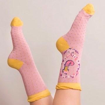 Ladies Bamboo Initial Socks J