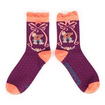 Ladies Bamboo Initial Socks K