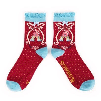 Ladies Bamboo Initial Socks A