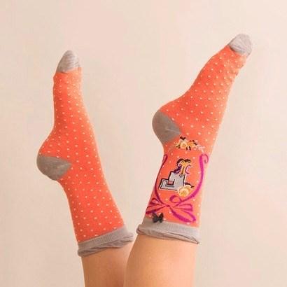 Ladies Bamboo Initial Socks F