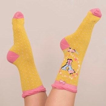 Ladies Bamboo Initial Socks Y
