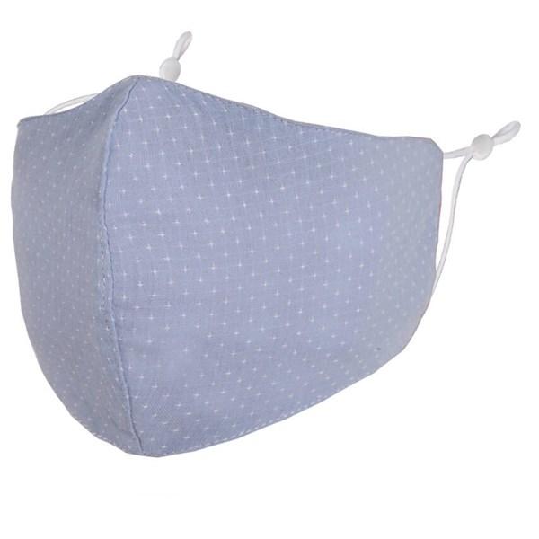 Light blue dot adult fabric face mask