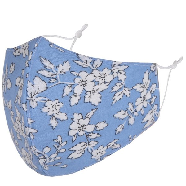 Blue/White flowers Adult Face Mask