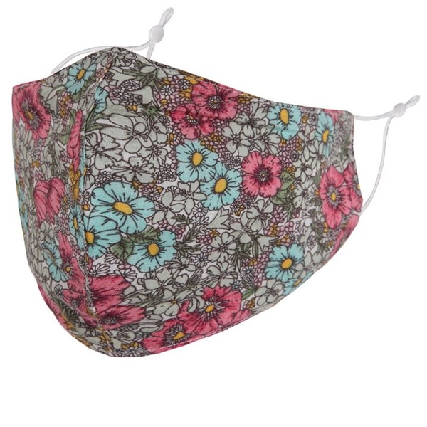 Retro floral print adult fabric face mask