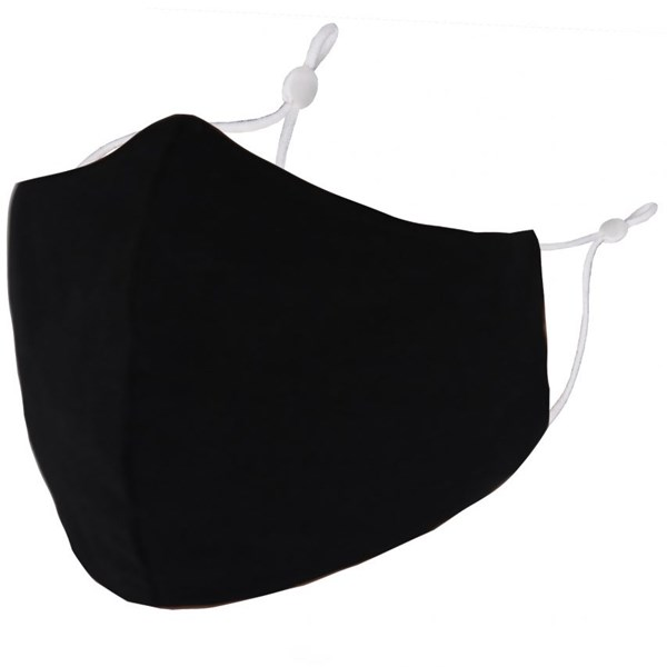 Plain Black Adult Face Mask