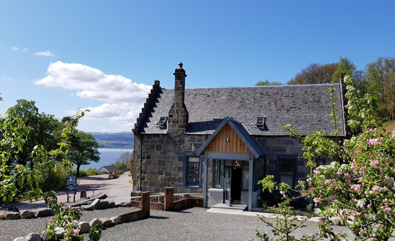 Outside of Ben Cruachan Inn looking towards Loch Awe