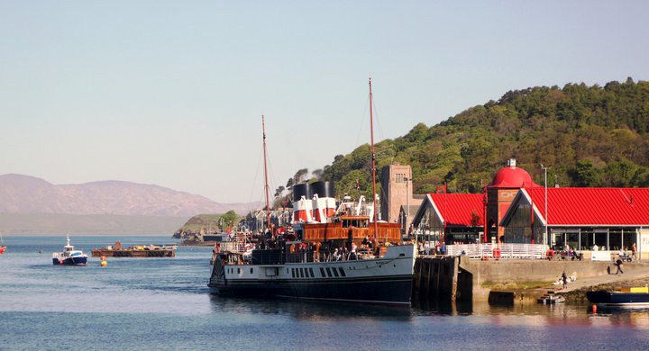 View from the South Pier Oban across to Piazza and Ee-usk