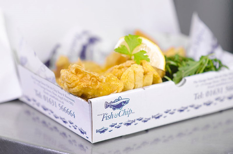 Mouthwatering fish and chips from the George Street Fish and Chip Shop