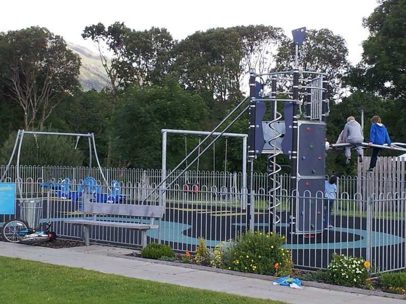 Taynuilt Playpark one mile away from Bays and Bens Holiday accommodation near Oban Scotland
