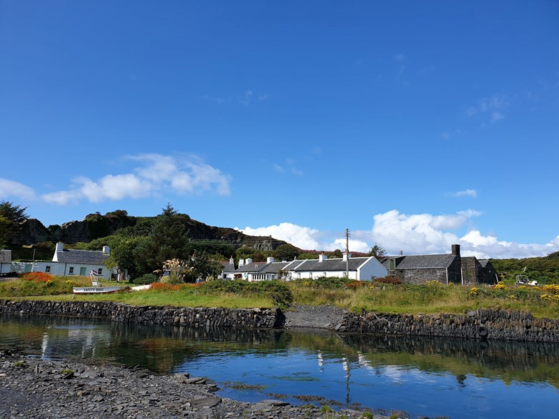 Gorgeous blue sky day on the Isle of Easdale