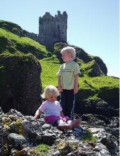 Isle of Kerrera looking up to Gylen Castle not far from the Tea Room