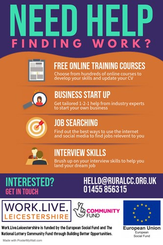 Work Live Leicestershire Project - Helping People Find Work
