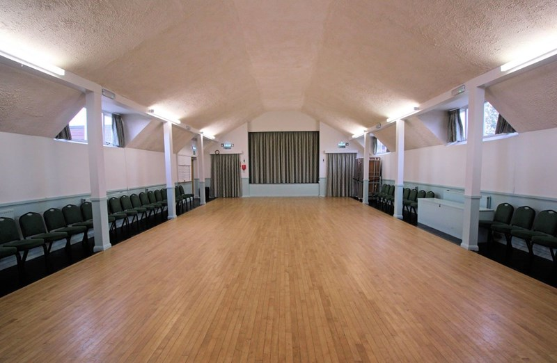 Click to see a larger picture of the inside of the Burnside Memorial Hall